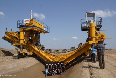 Construction machines for irrigation canals comissioned